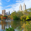 New York City Central Park in Autumn - Stock Photo
