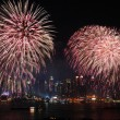 New York City Manhattan fireworks show — Stock Photo