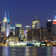 Stock Photo: New York City Manhattan midtown skyline at dusk