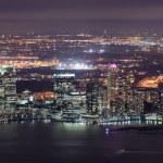 New Jersey night Panorama from New York City Manhattan — Stock Photo #6084442