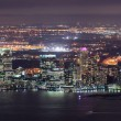 Stock Photo: New Jersey night Panoramfrom New York City Manhattan