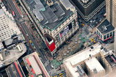 New York City Manhattan street aerial view — Stockfoto
