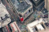 New Yorks manhattan gatan Flygfoto — Stockfoto