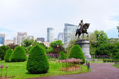 Boston Common park garden — Stock Photo