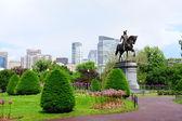 Boston Common park garden — Stock Photo