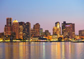Boston downtown panorama at dusk — Stock Photo