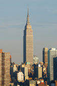 Empire State building closeup, Manhattan, New York City — Stock Photo