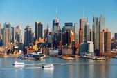 New york město s mrakodrapy — Stock fotografie