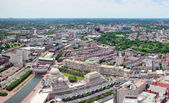 Boston city aerial panorama — Stock Photo