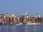 New york city manhattan sur hudson river — Photo