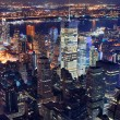 New York City aerial view at night — Foto de Stock