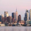 New York City Manhattan sunset panorama — Stock Photo #6570599