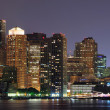 Boston night panorama — Stock Photo