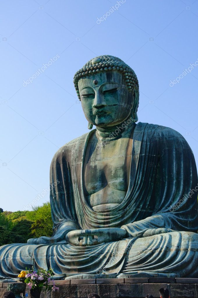 Amida Buddha (Daibutsu) at Kotoku-in in Kamakura, Japan. Taken in spring 2011. — Stock Photo #5624403