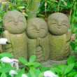 Jizo bodhisattva standbeeld — Stockfoto #5989849