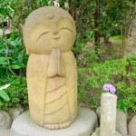 Jizo bodhisattva staty — Stockfoto