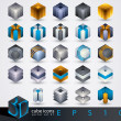 Royalty-Free Stock Vector Image: 3D design elements.