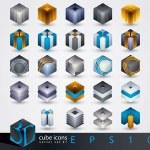 3D design elements. — Stock Vector