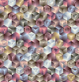 3d geometric seamless pattern. — Stockvektor