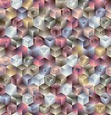 3 d の幾何学的なシームレス パターン. — ストックベクタ