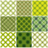 Classic textile seamless patterns set. — Stockvektor