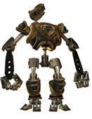 Fighting robots in Steampunk style — Stock Photo