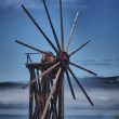 Stock Photo: Wooden windmill on LPalma
