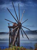 Molino de madera de la palma — Foto de Stock