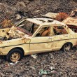 HDR car wreck on lava rock — Stock Photo #5850664