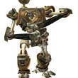 Stock Photo: Fighting machine in steampunk style