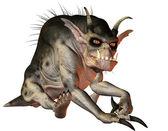 Evil creature sitting — Stock Photo