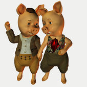 Mr. and Mrs. Pig — Stock Photo