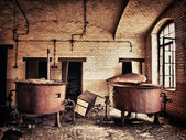 Old rusted water tank — Stock Photo