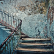 Old dilapidated staircase — Stock Photo