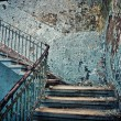 Old dilapidated staircase - Stock Photo