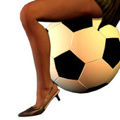 Women's Soccer — Stockfoto
