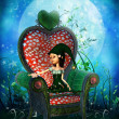 Little fairy in chair — Stock Photo