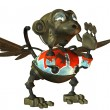 Screaming monkey made ​​of iron — Stock Photo