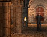 торговцы смертью в церкви — Стоковое фото