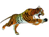 Leaping tiger — Stock Photo