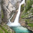 Savica waterfalls, slow shutter speed — Stock Photo