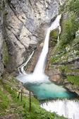 Savica waterfalls, slow shutter speed — Stock Photo