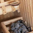 Finnish Sauna Interior — Stock Photo