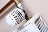 Radiator thermostat detail — Stock Photo