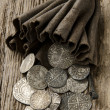 Stock Photo: Ancient silver coins