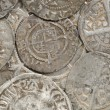 Ancient silver coins — Stock Photo