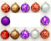Christmas baubles — 图库照片
