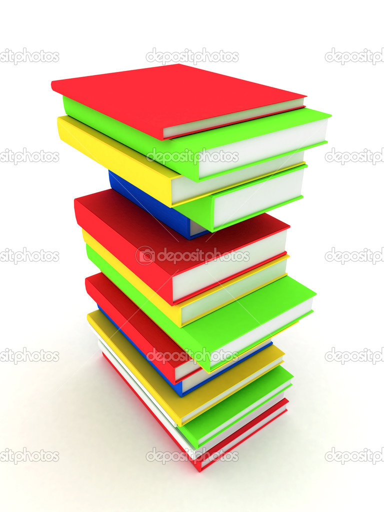 Picture pages,  Books bindings and Literature — Stock Photo #6116399