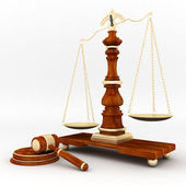 司法的生财工具 — 图库照片