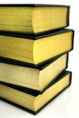 Closeup of stack of hardback books — Stock Photo